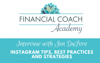 instagram strategy for financial coach